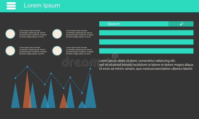 Geschäft Infographic-Datendesign und -graphik stock abbildung