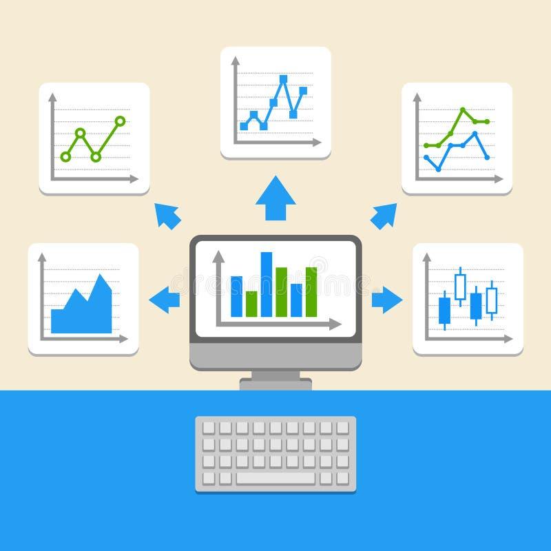 Geschäft Infographic-Elemente lizenzfreie abbildung