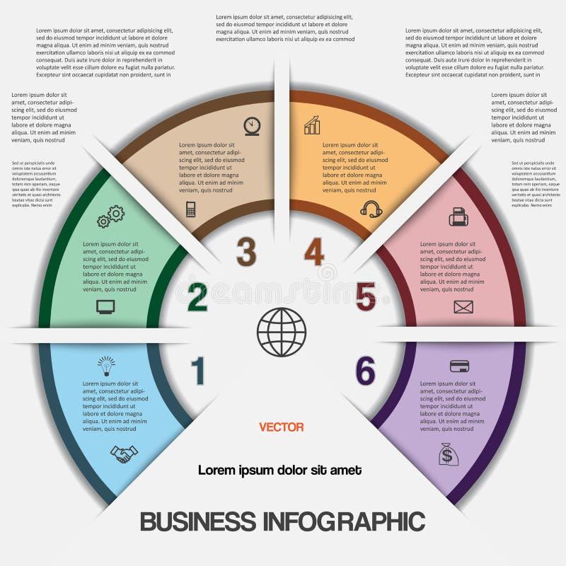 Geschäft infographic für Erfolgsprojekt und andere Ihre Variante vektor abbildung