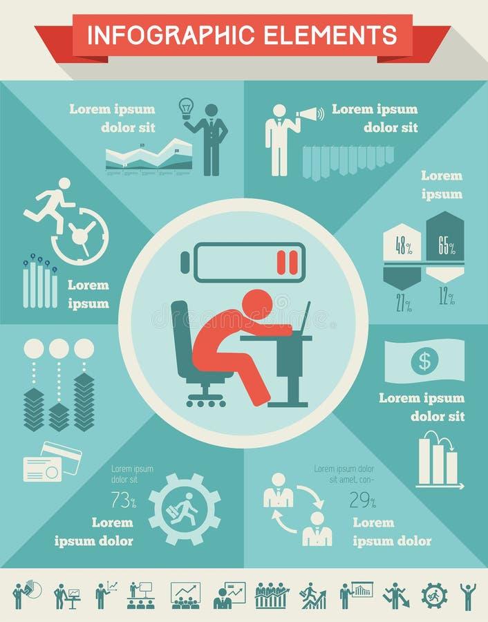 Geschäft Infographic-Schablone. lizenzfreie abbildung
