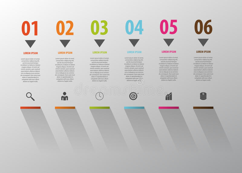 Geschäft Infographic Treppenschritte zum Erfolg Vektor stock abbildung