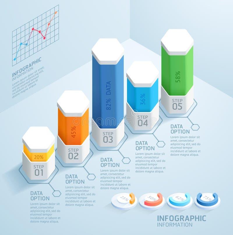 Geschäft Infographics-Design-Schablone Auch im corel abgehobenen Betrag Kann für Arbeitsflussplan, Diagramm, Zahlwahlen, Start ve stock abbildung