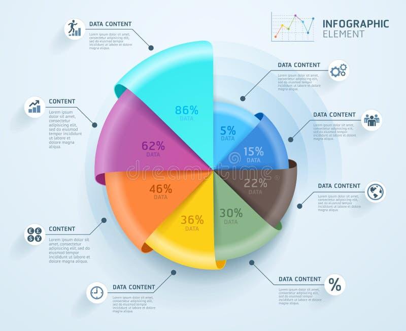 Geschäft Infographics-Design-Schablone Auch im corel abgehobenen Betrag Kann für Arbeitsflussplan, Diagramm, Zahlwahlen, Start ve lizenzfreie abbildung