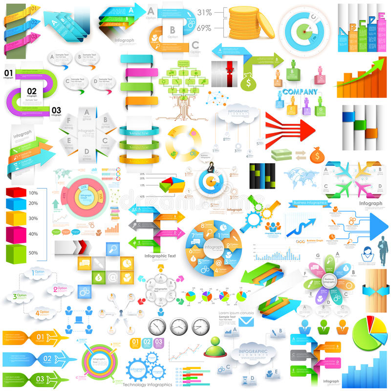 Geschäft infographics Element für presentationjumbo Sammlung lizenzfreie abbildung