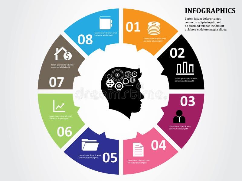 Geschäft Infographics-Kreis stock abbildung