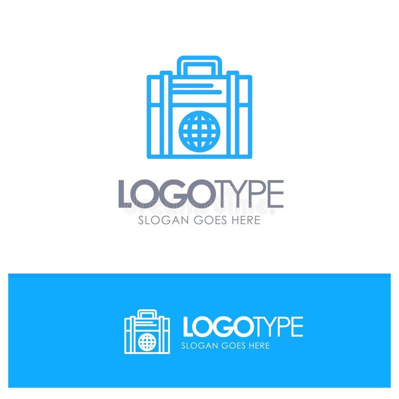 Geschäft, Investition, modern, blaues Logo Entwurf der Kugel mit Platz für Tagline vektor abbildung