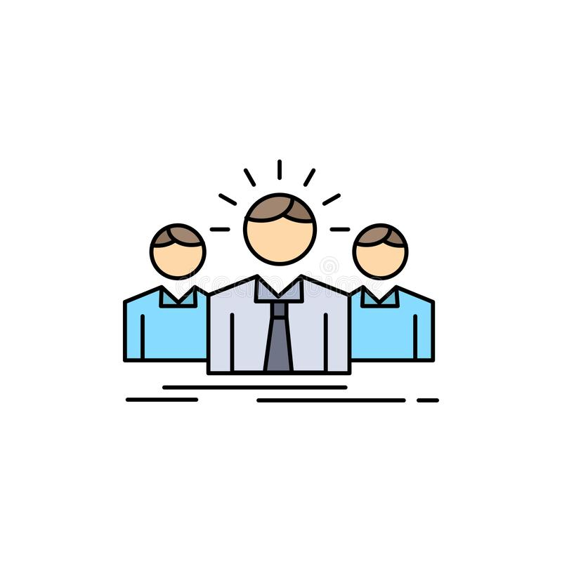 Geschäft, Karriere, Angestellter, Unternehmer, Führer Flat Color Icon-Vektor lizenzfreie abbildung