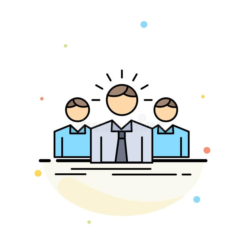 Geschäft, Karriere, Angestellter, Unternehmer, Führer Flat Color Icon-Vektor vektor abbildung