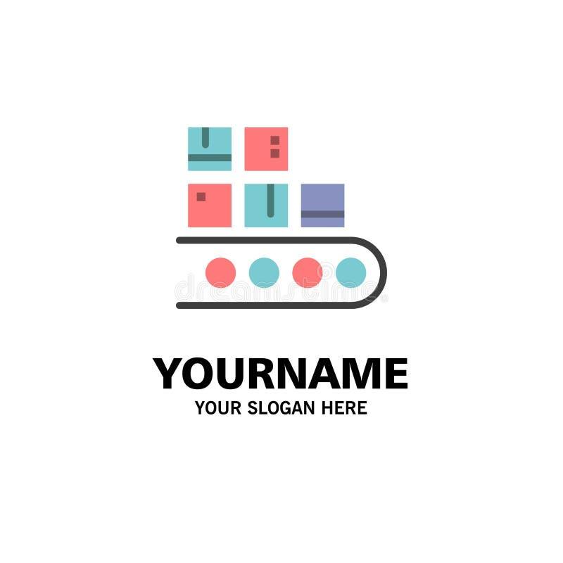 Geschäft, Linie, Management, Produkt, Produktions-Geschäft Logo Template flache Farbe lizenzfreie abbildung