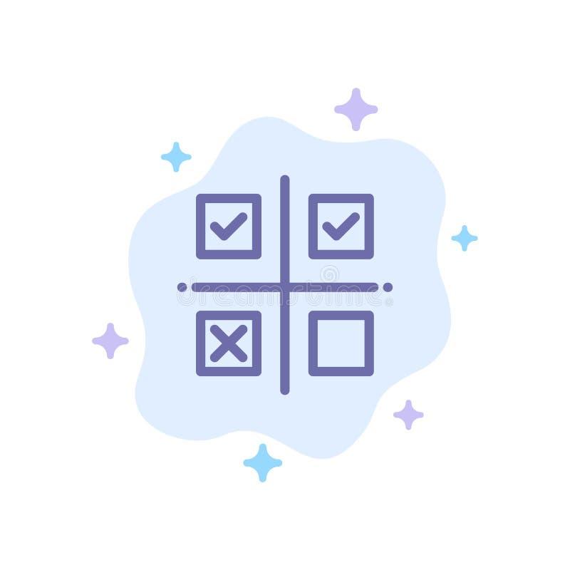 Geschäft, Management, Prioritäten, Produkt, Produktions-blaue Ikone auf abstraktem Wolken-Hintergrund stock abbildung