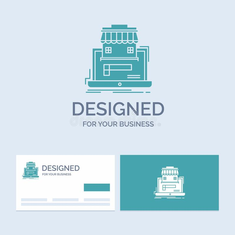 Geschäft, Markt, Organisation, Daten, on-line-Markt Geschäft Logo Glyph Icon Symbol für Ihr Geschäft r lizenzfreie abbildung