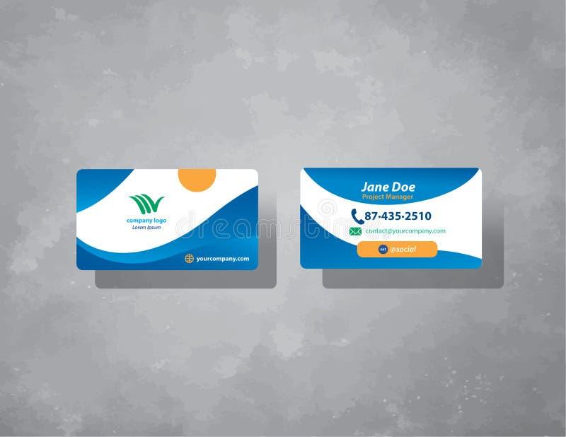 Geschäft oder Kreditkartedesign für Reisebüro vektor abbildung