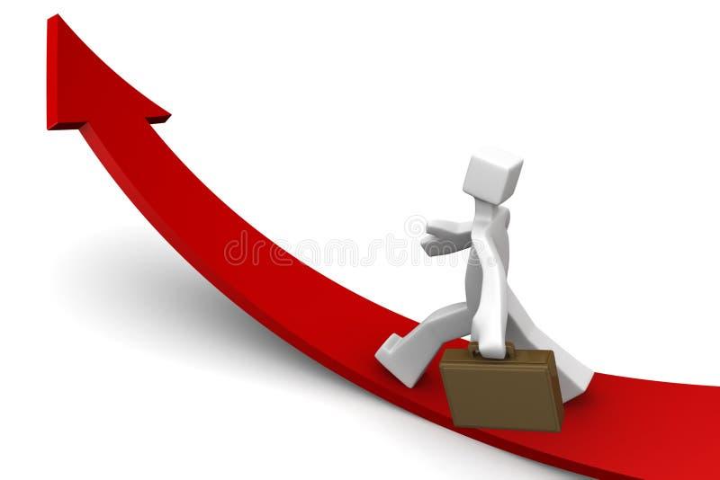 Geschäft in Richtung zu wachsendem Richtungskonzept stock abbildung