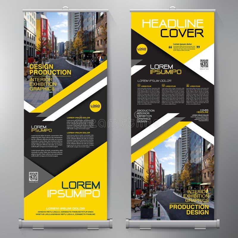 Geschäft rollen oben Stehplatzinhaber-Design Fahnenschablone lizenzfreie abbildung