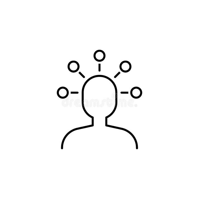 Geschäft seo, Benutzerlinie Ikone Teamwork an der Idee Zeichen und Symbole k?nnen f?r Netz, Logo, mobiler App, UI, UX verwendet w lizenzfreie abbildung