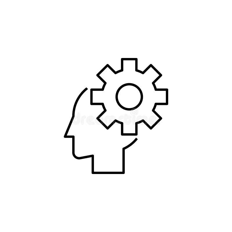 Geschäft seo, Benutzerlinie Ikone Teamwork an der Idee Zeichen und Symbole k?nnen f?r Netz, Logo, mobiler App, UI, UX verwendet w stock abbildung
