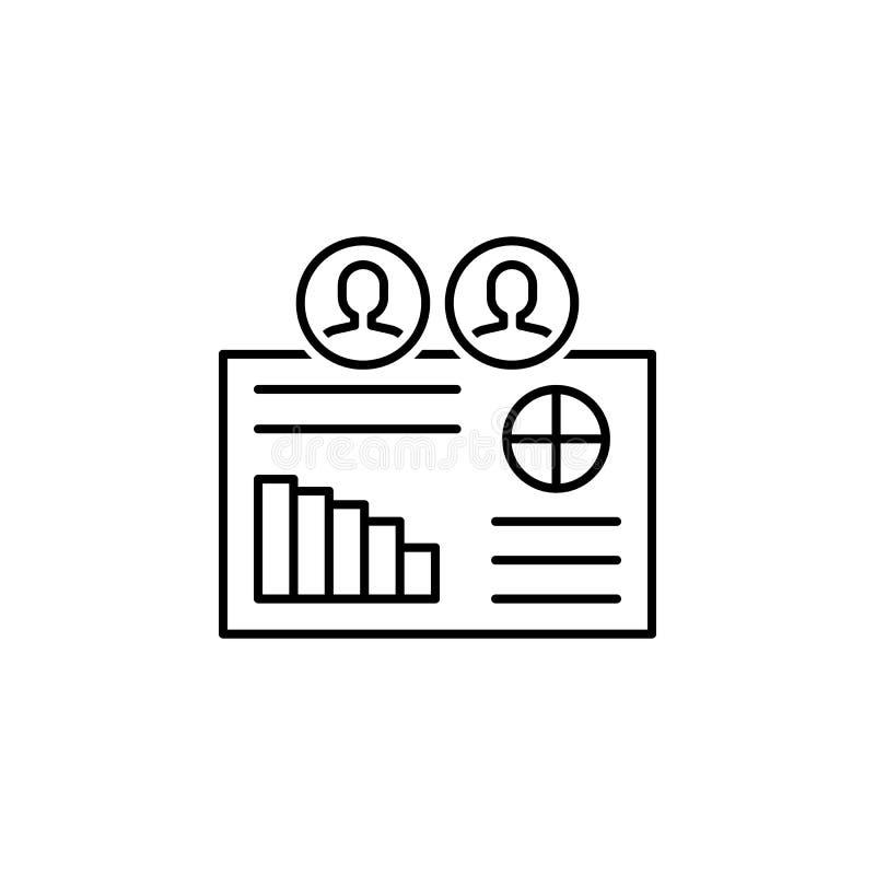 Geschäft seo, Darstellungslinie Ikone Teamwork an der Idee Zeichen und Symbole k?nnen f?r Netz, Logo, mobiler App, UI, UX verwend stock abbildung
