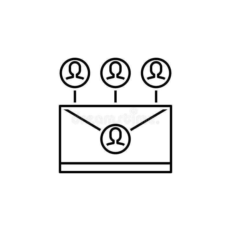 Geschäft seo, Intranetlinie Ikone Teamwork an der Idee Zeichen und Symbole k?nnen f?r Netz, Logo, mobiler App, UI, UX verwendet w vektor abbildung