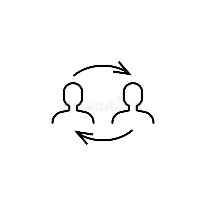 Geschäft seo, Transferstraßeikone Teamwork an der Idee Zeichen und Symbole k?nnen f?r Netz, Logo, mobiler App, UI, UX verwendet w stock abbildung