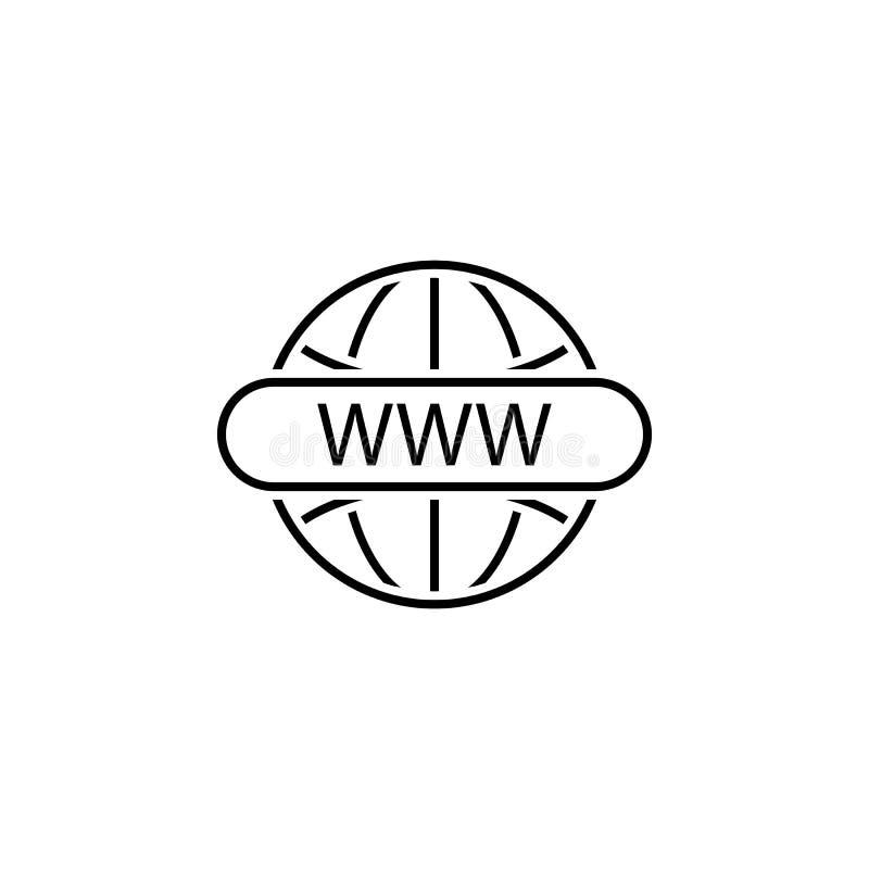 Geschäft seo, weltweite Linie Ikone Teamwork an der Idee Zeichen und Symbole k?nnen f?r Netz, Logo, mobiler App, UI, UX verwendet stock abbildung