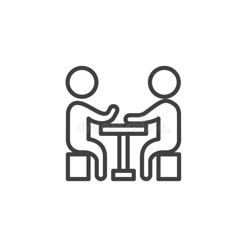 Geschäft, Sitzung, Leutelinie Ikone vektor abbildung
