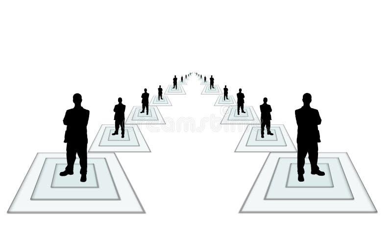 Geschäft team-2 stock abbildung