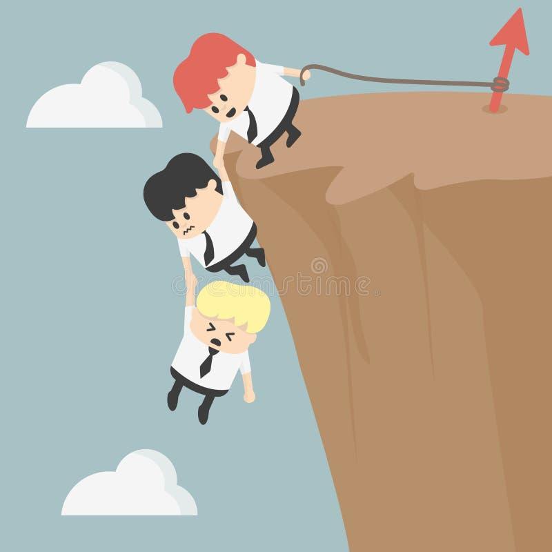 Geschäft Team Work für Erfolg stock abbildung