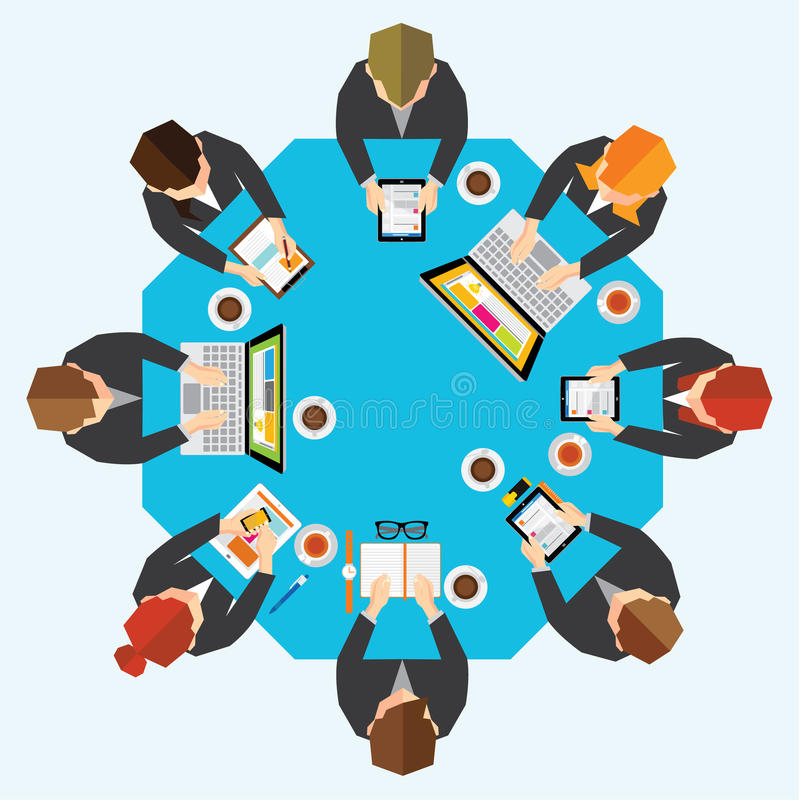 Geschäft und Büro-Vektor-Design stock abbildung