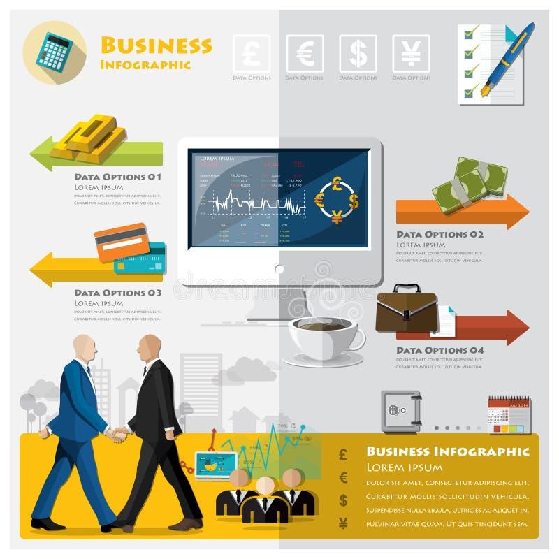 Geschäft und Finanz-Infographic lizenzfreie abbildung