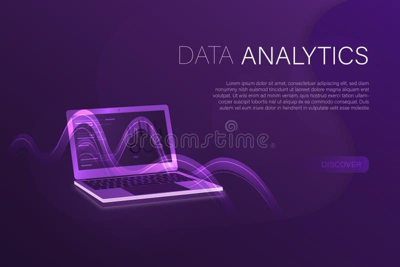 Geschäft und Finanzierung - Daten Analytics lizenzfreie abbildung