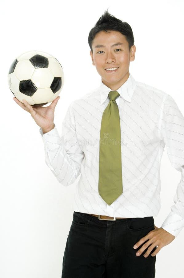 Geschäft und Fußball lizenzfreies stockfoto