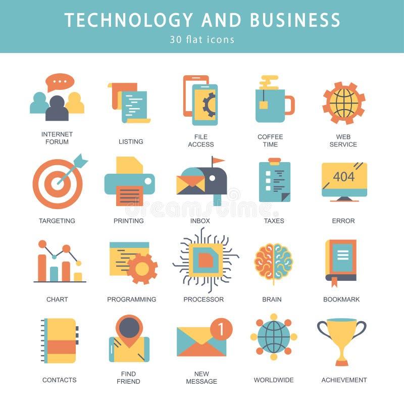 Geschäft und Marketing, programmierend, Datenverwaltung, Internetanschluss, Soziales Netz und rechnen, Informationen lizenzfreie abbildung