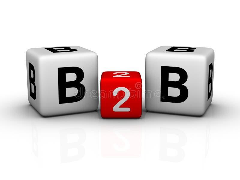 Geschäft zum Geschäft lizenzfreie abbildung