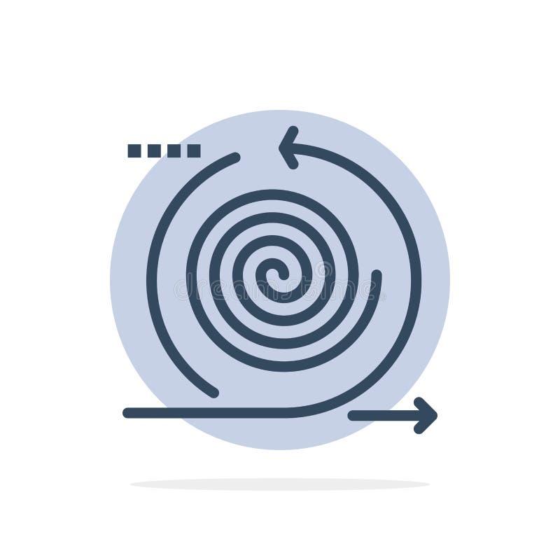 Geschäft, Zyklen, Wiederholung, Management, flache Ikone Farbe des Produkt-Zusammenfassungs-Kreis-Hintergrundes vektor abbildung