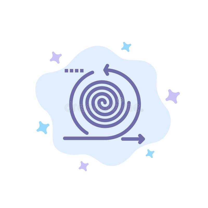 Geschäft, Zyklen, Wiederholung, Management, Produkt-blaue Ikone auf abstraktem Wolken-Hintergrund lizenzfreie abbildung