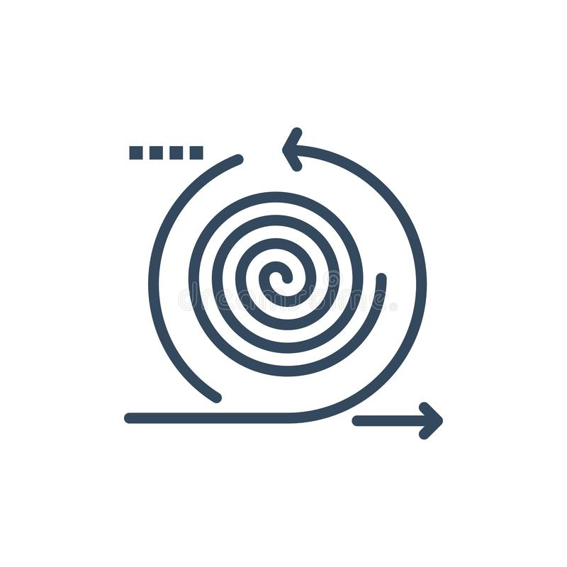 Geschäft, Zyklen, Wiederholung, Management, Produkt-flache Farbikone Vektorikonen-Fahne Schablone vektor abbildung