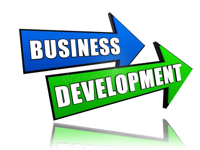 Geschäftliche Entwicklung in den Pfeilen vektor abbildung