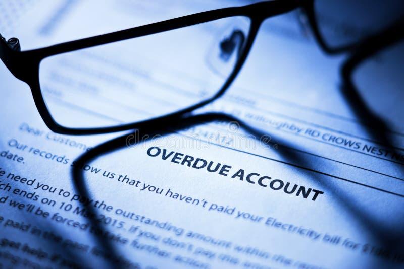 Geschäfts-überfällige Konto-Rechnungen stockfoto