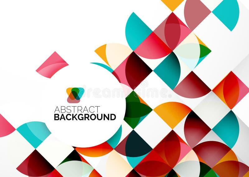 Geschäfts-abstrakte geometrische Schablone lizenzfreie abbildung