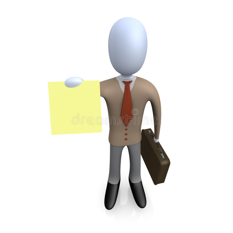 Geschäfts-Anmerkung vektor abbildung