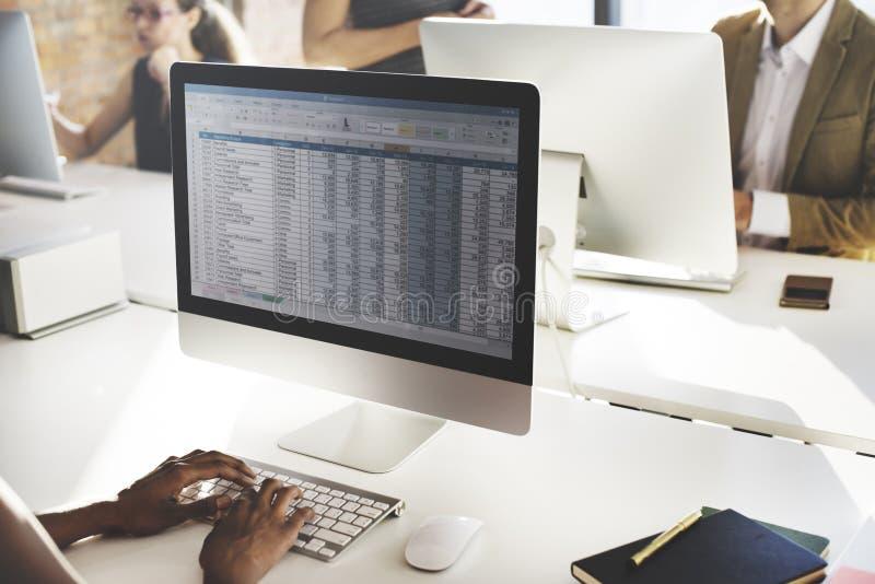 Geschäfts-Arbeitsbuchhaltungs-Statistik-Statistik-Konzept stockbild