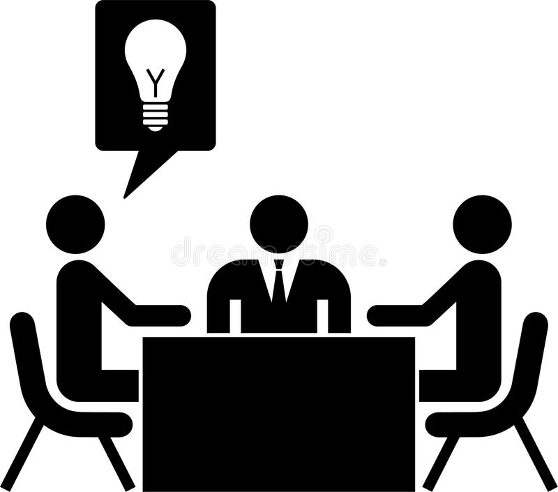 Geschäfts-/Arbeitssitzung lizenzfreie abbildung