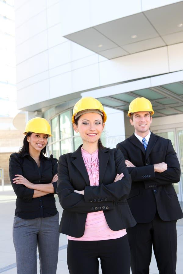 Geschäfts-Aufbau-Team lizenzfreies stockbild