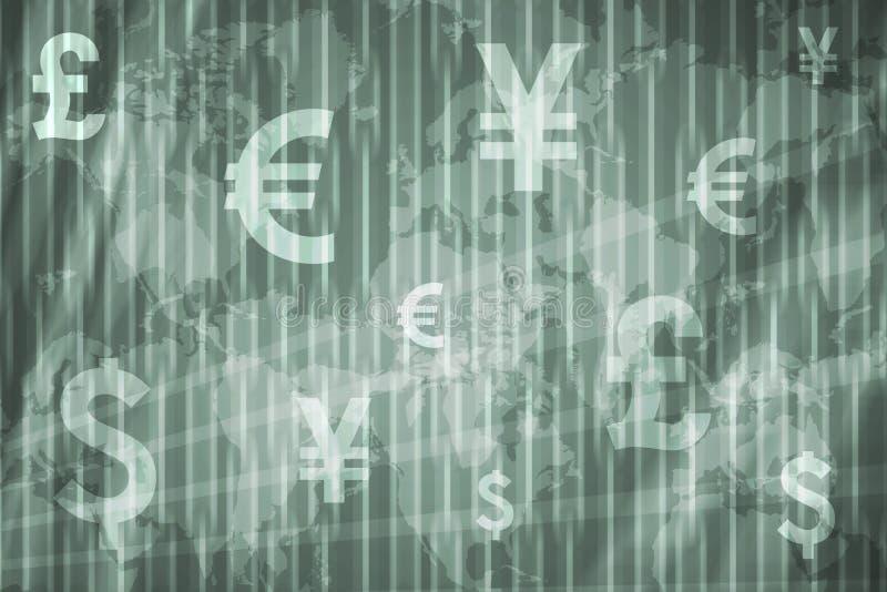 Geschäfts-Börse-Auszugs-Hintergrund lizenzfreie abbildung