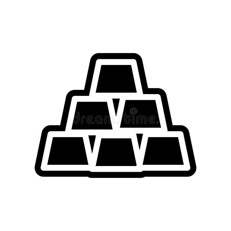 Geschäfts-Bank-Finanzikone Element der Finanzierung f?r bewegliches Konzept und Netz Appsikone Glyph, flache Ikone f?r Websiteent lizenzfreie abbildung