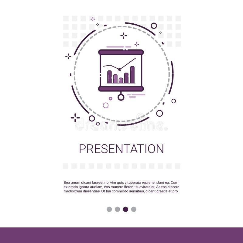 Geschäfts-Darstellungs-Seminar-Konferenz-Geistesblitz-Prozess-Netz-Fahne mit Kopien-Raum lizenzfreie abbildung