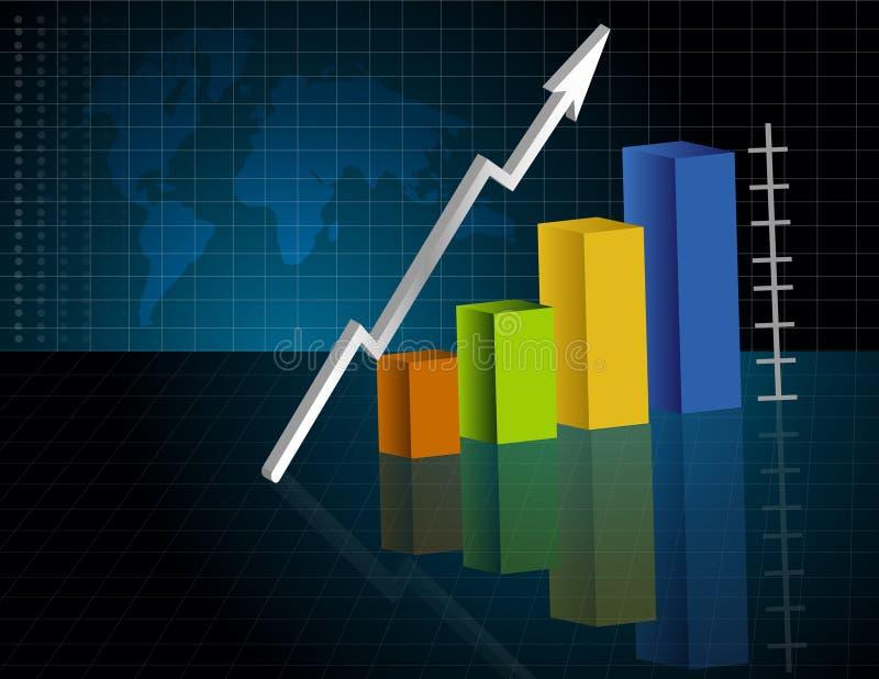 Geschäfts-Diagramm lizenzfreie abbildung