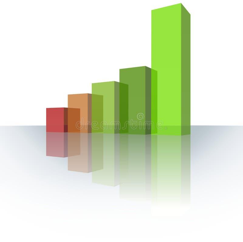Geschäfts-Diagramm stock abbildung
