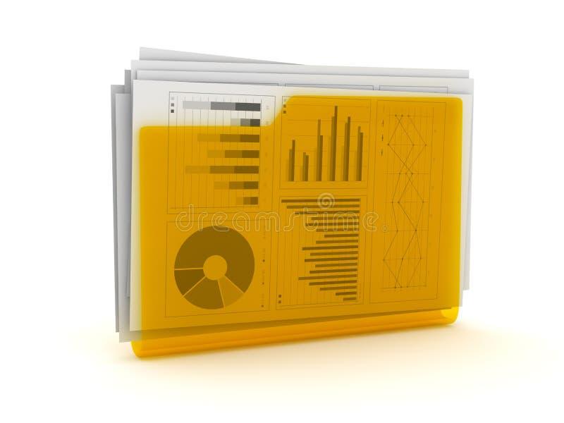 Geschäfts-Diagramm-Dokumente im Ordner lizenzfreie abbildung