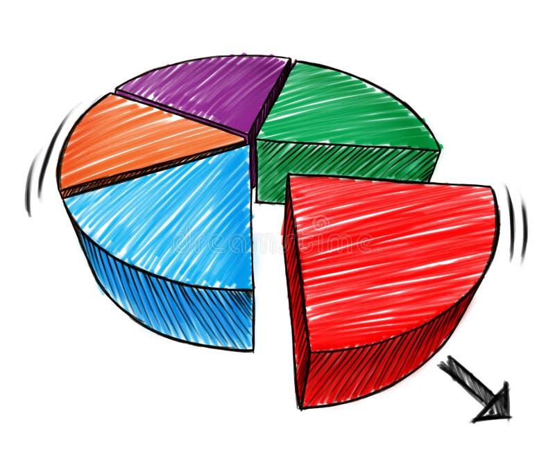 Geschäfts-Diagramm-Skizze stock abbildung. Illustration von idee ...